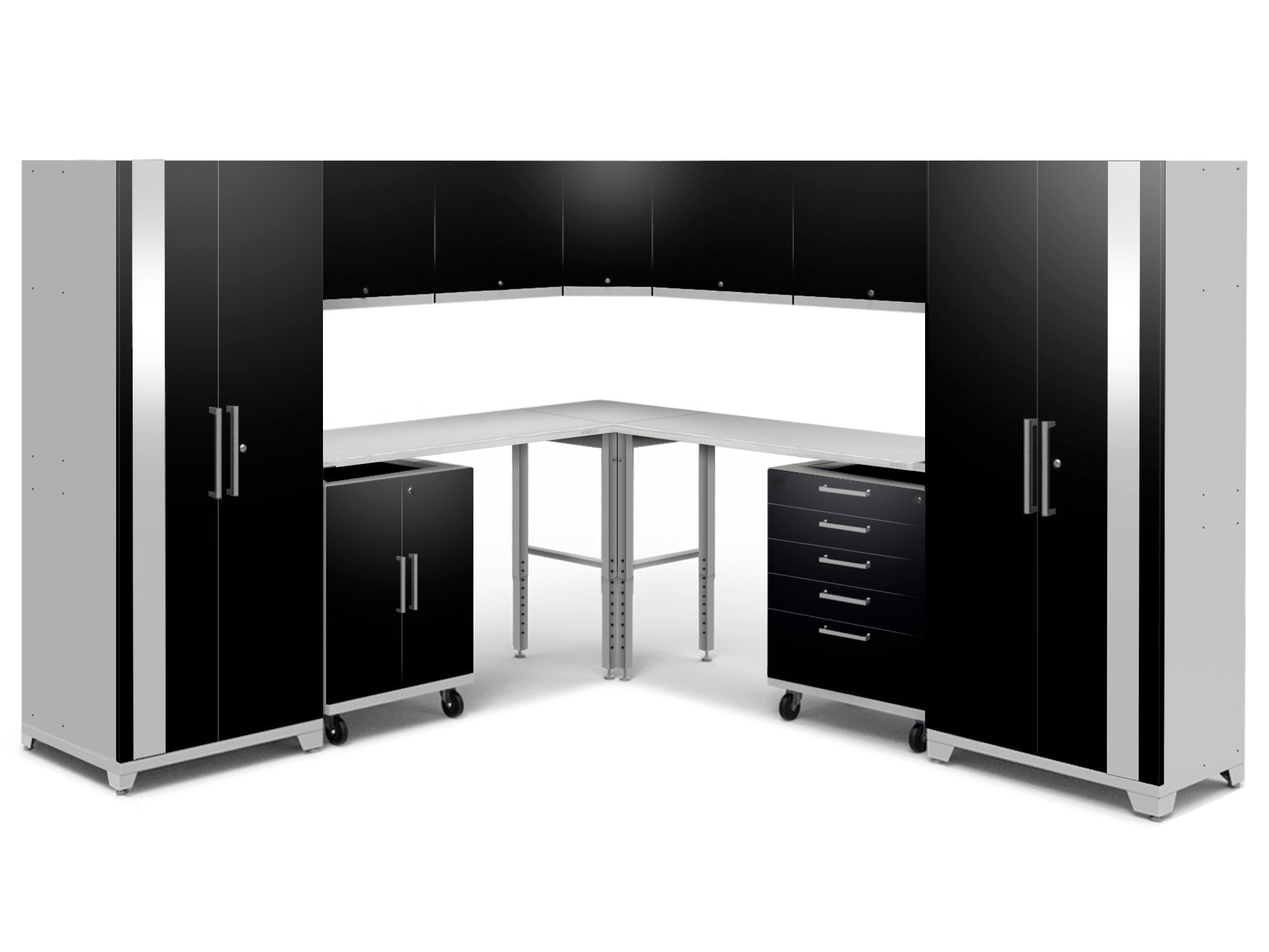 NewAge Performance Plus 2.0 Black 12 Piece Set - Stainless Steel Worktop - 53175