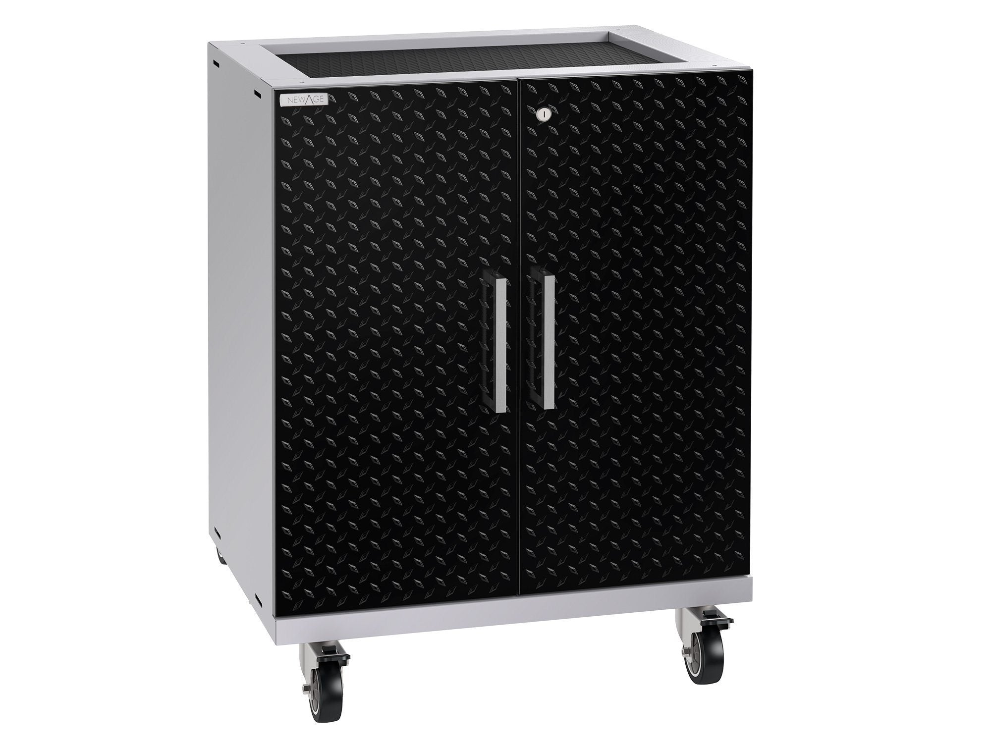 NewAge Performance Plus 2.0 Diamond Plate Black Base Cabinet - 55002