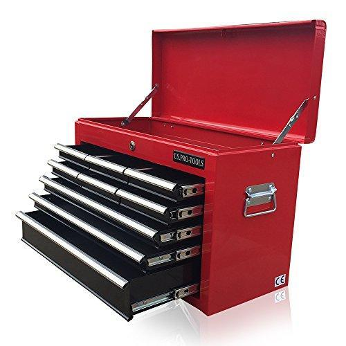 US PRO TOOLS AFFORDABLE RED BLACK TOOL CHEST BOX TOOL CABINET 9 DRAWER BALL BEARING DRAWERS