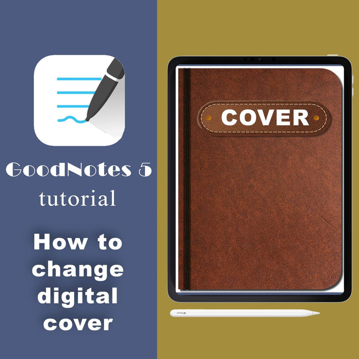 How to change the cover in the Digital Planner in GoodNotes 5 - iPad Planner