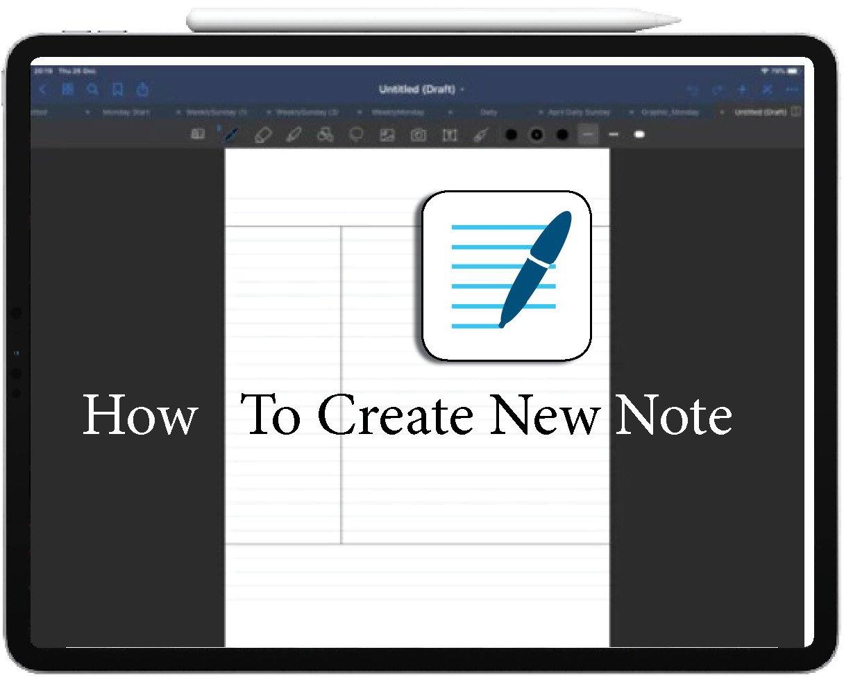How To create New Note in GoodNotes ipadplanner.com