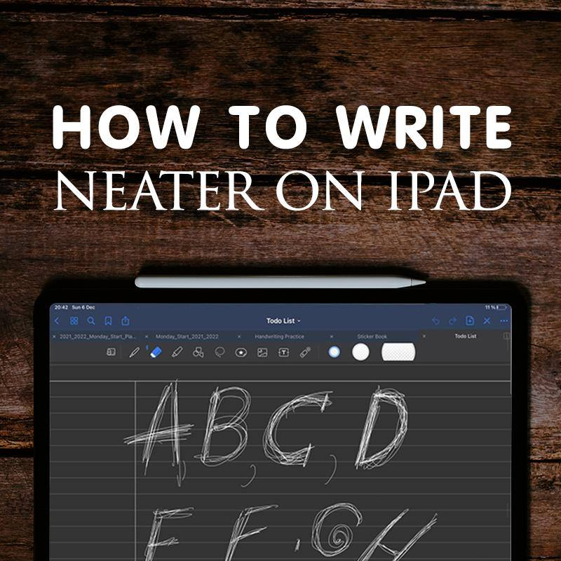 How To Write Neater on iPad and Improve your handwriting with apple pencil ipadplanner.com