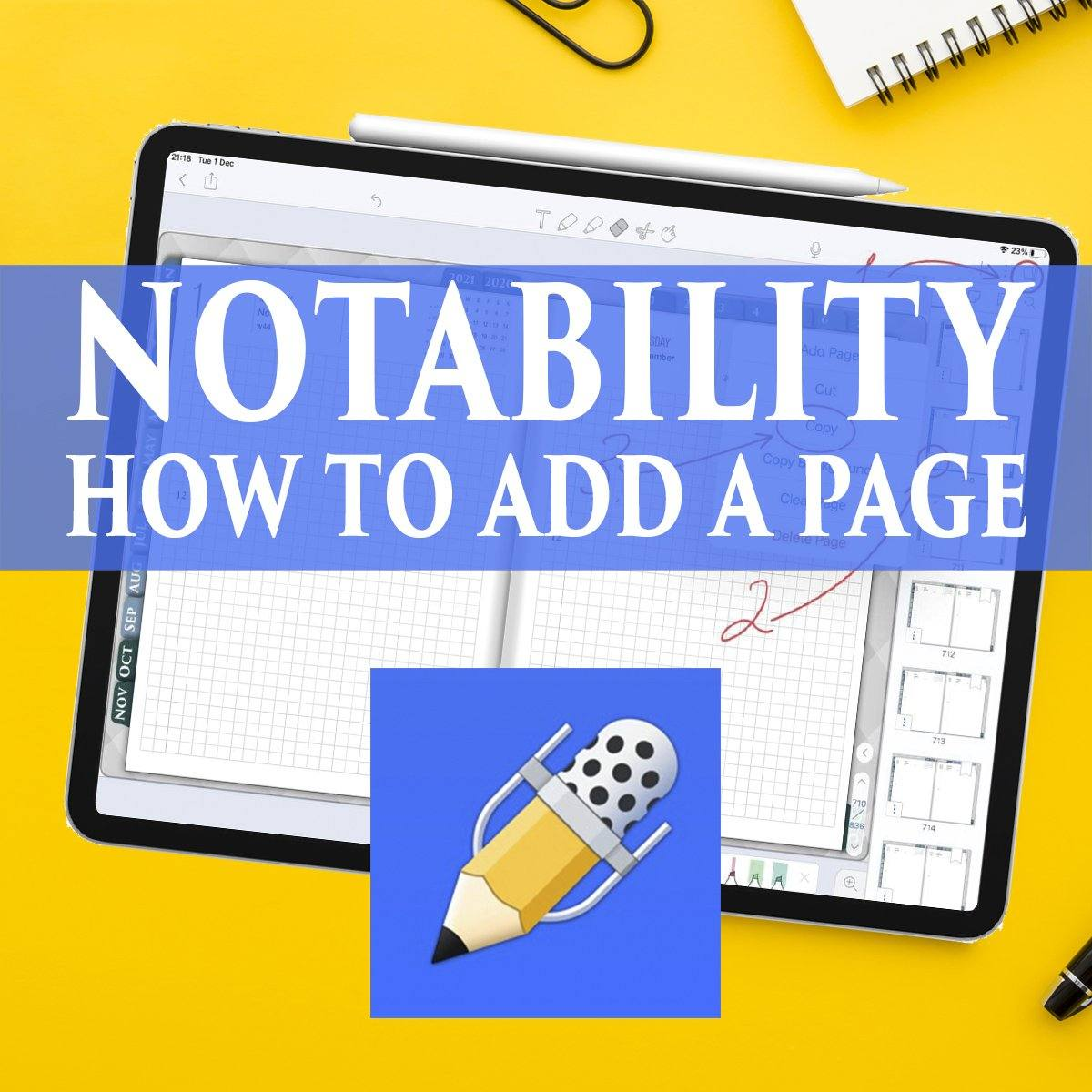 Notability How To Add a Page or Duplicate pages