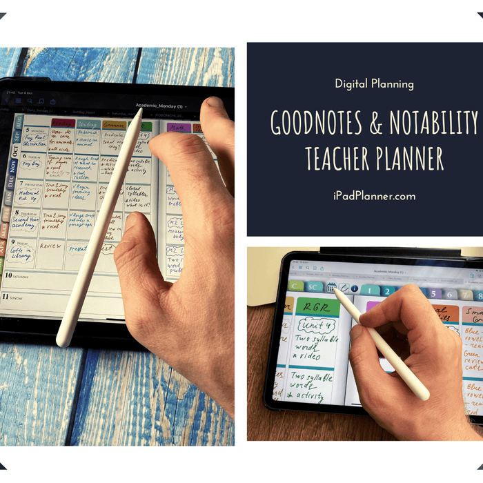 Best Digital Teacher Planner for GoodNotes and Notability - iPad Planner