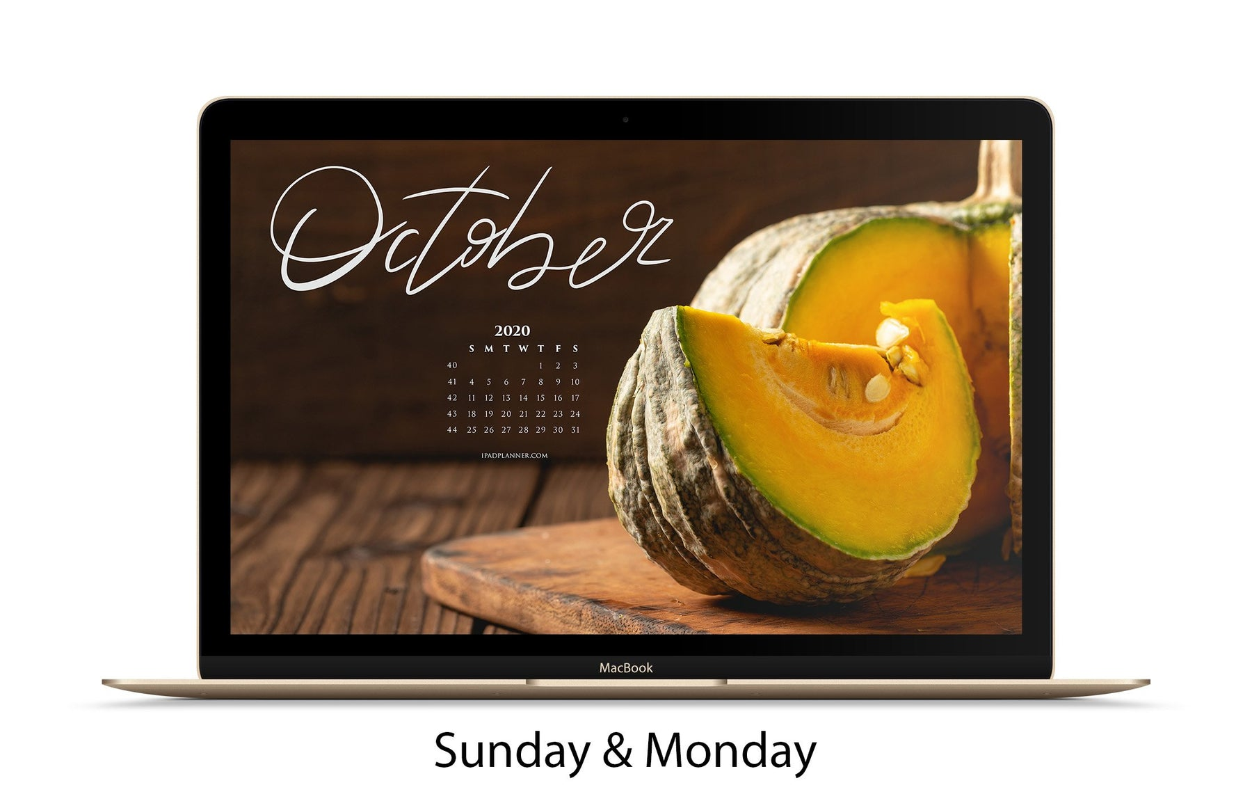 Free Download October Calendar Background - iPad Planner