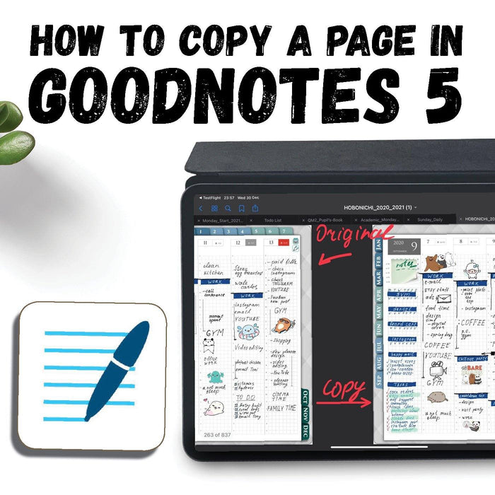 How To Copy or duplicate A Page In GoodNotes 5 tutorial ipadplanner.com