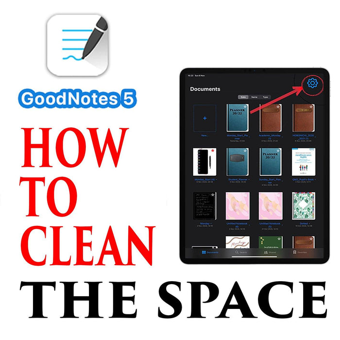 GoodNotes 5 Tutorial How to erase space, how to delete files from recycle bin and up its work
