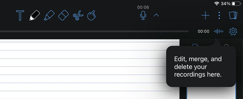 Notability audio recorder for note-taking