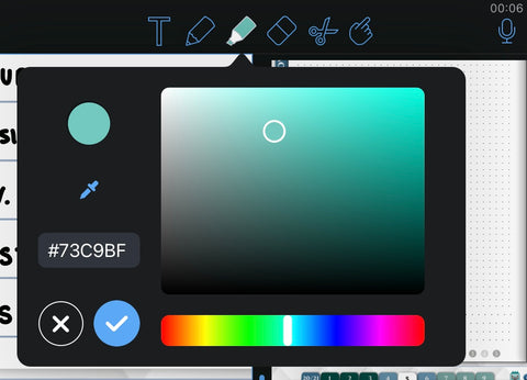 Notability color palette