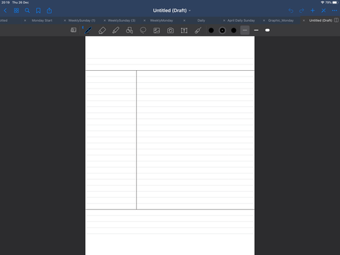 goodnotes digital lined page template
