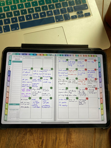 goodnotes template for digital planning ipadplanner.com