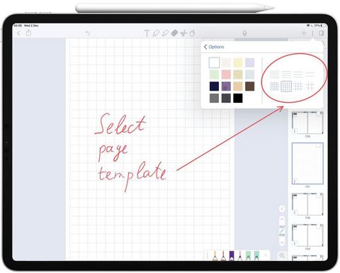 Grid Notability page template