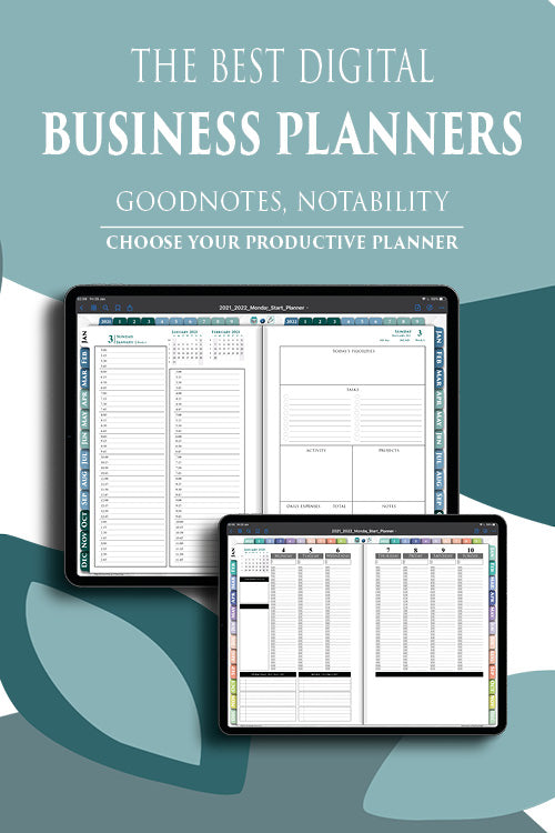 digital business planners for ipad digital planning in goodnotes and notability