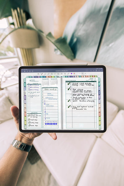 Digital PDF Planner for daily planning in iPad