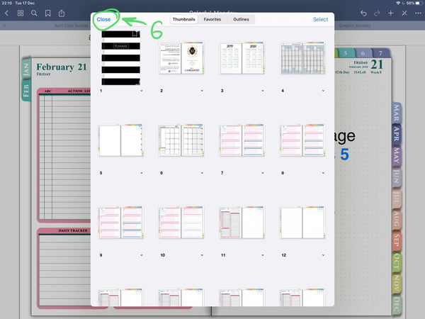 Goodnotes 5 digital planner template
