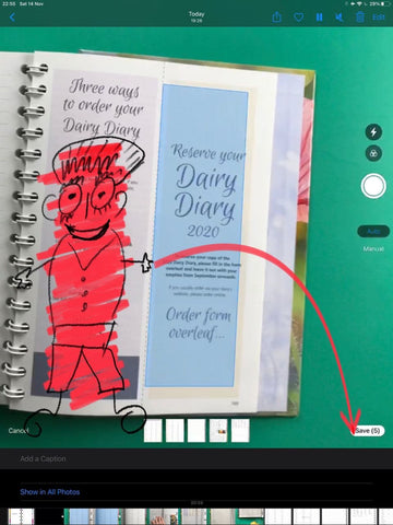 Save Document after scanning in GoodNotes 5 ipadplanner.com