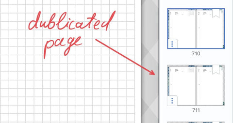 Page template in Notability