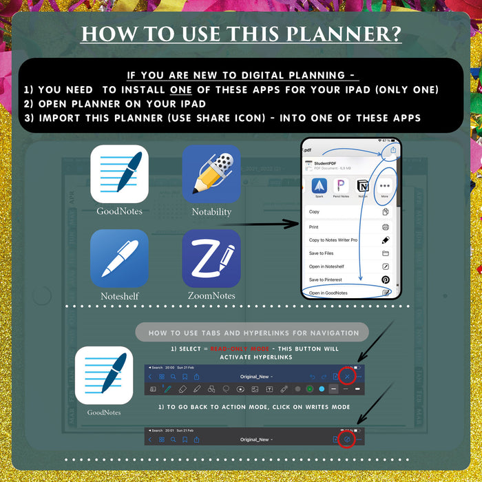 how to use notability digital daily planner