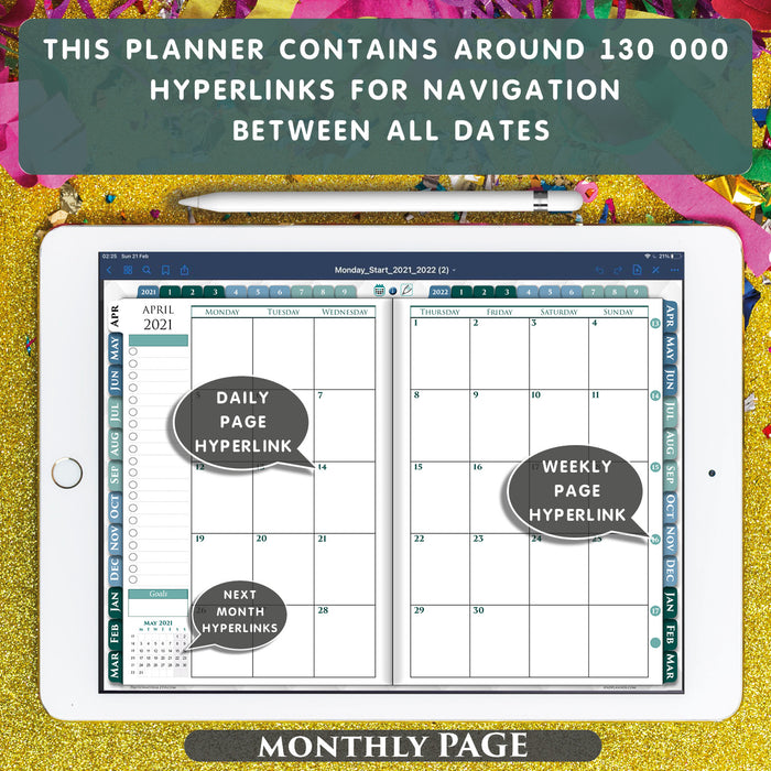 notability monthly planner