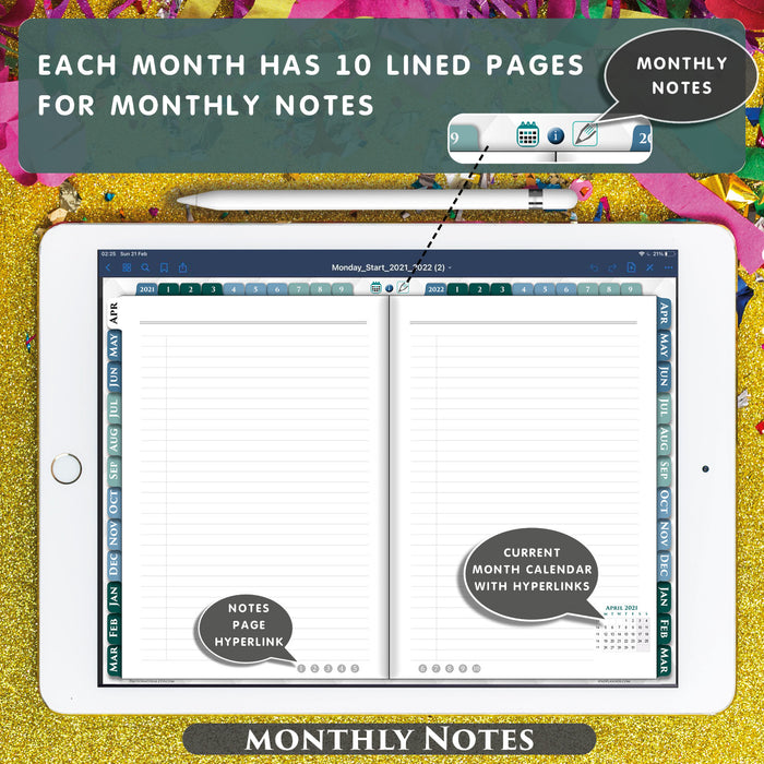 notability lined page template 2021 2022 ipadplanner.com