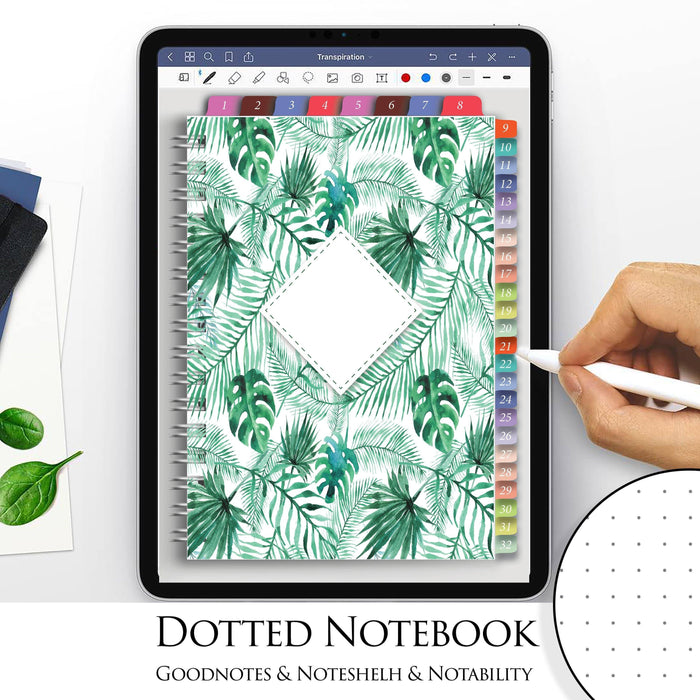 Dotted Goodnotes Notebook Template Digital Paper - iPad Planner