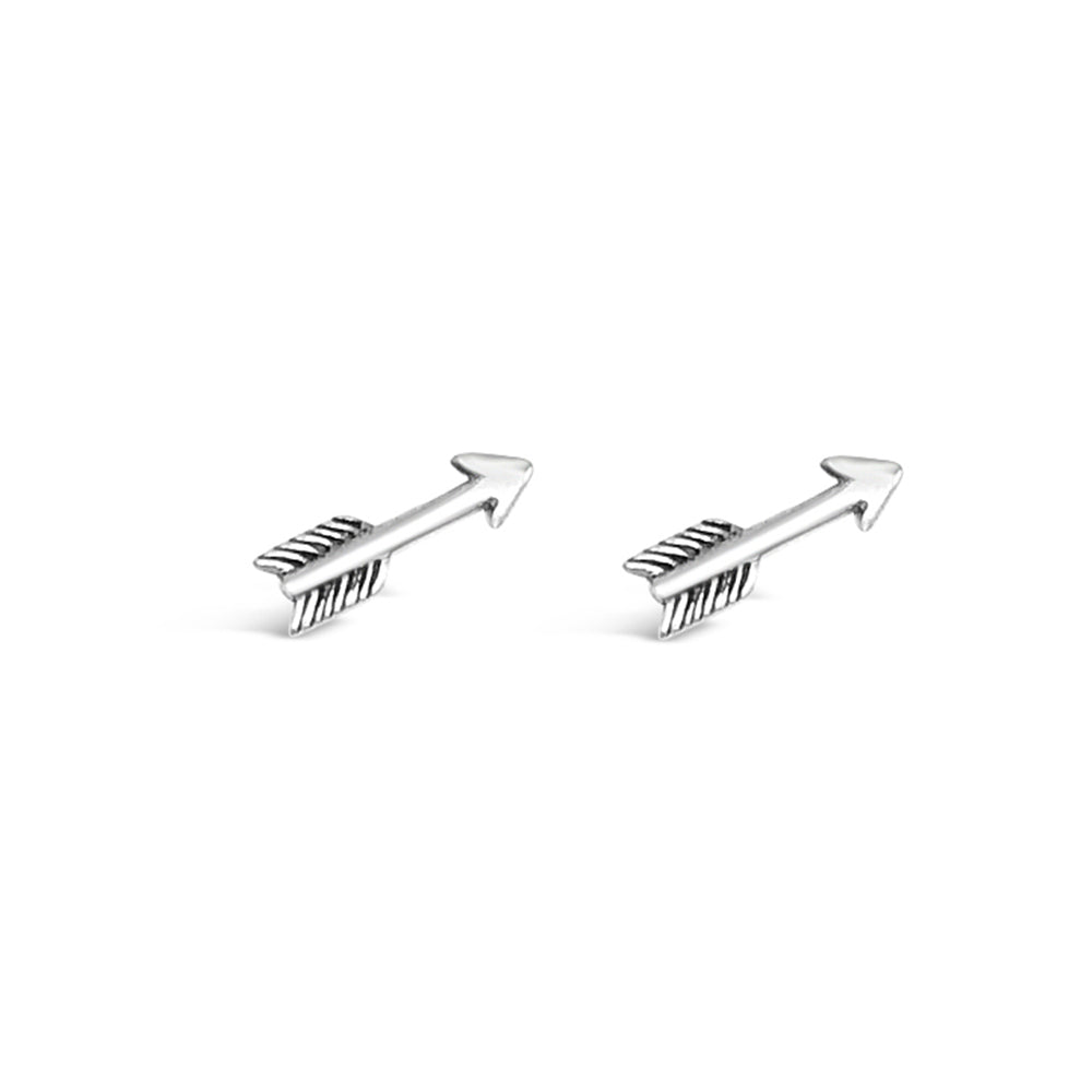 GR82-STERLING SILVER ARROW STUD EARRINGS
