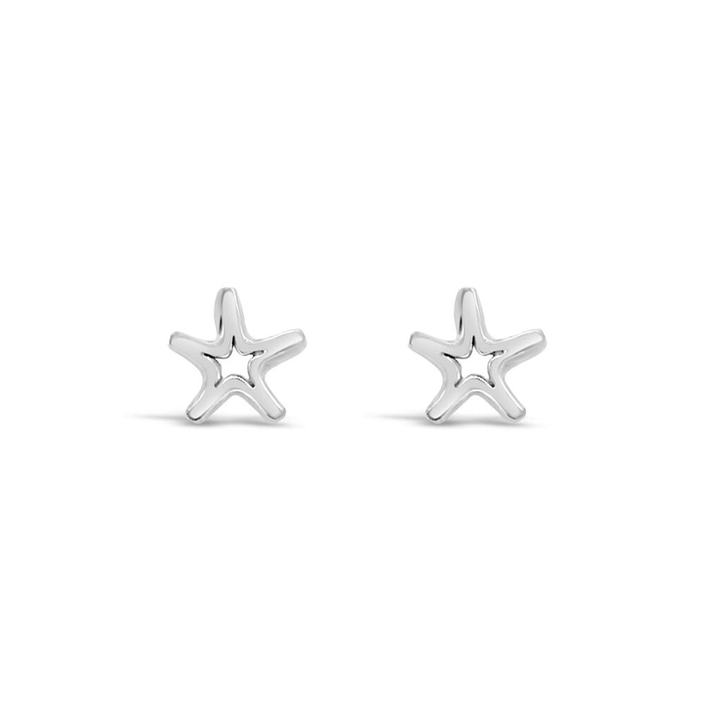 AD57S- STERLING SILVER STARFISH STUD EARRINGS