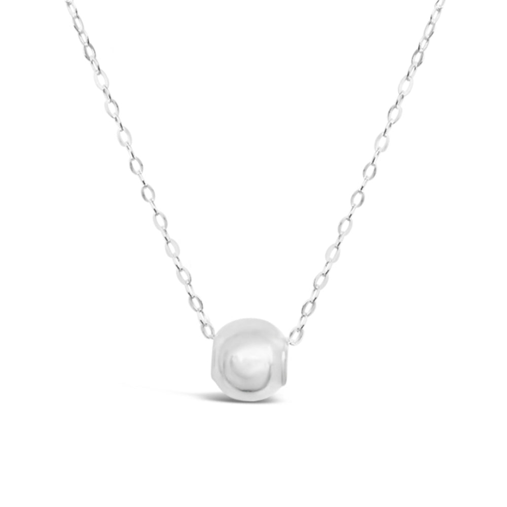 GR70-STERLING SILVER BALL ON 16 IN CHAIN NECKLACE