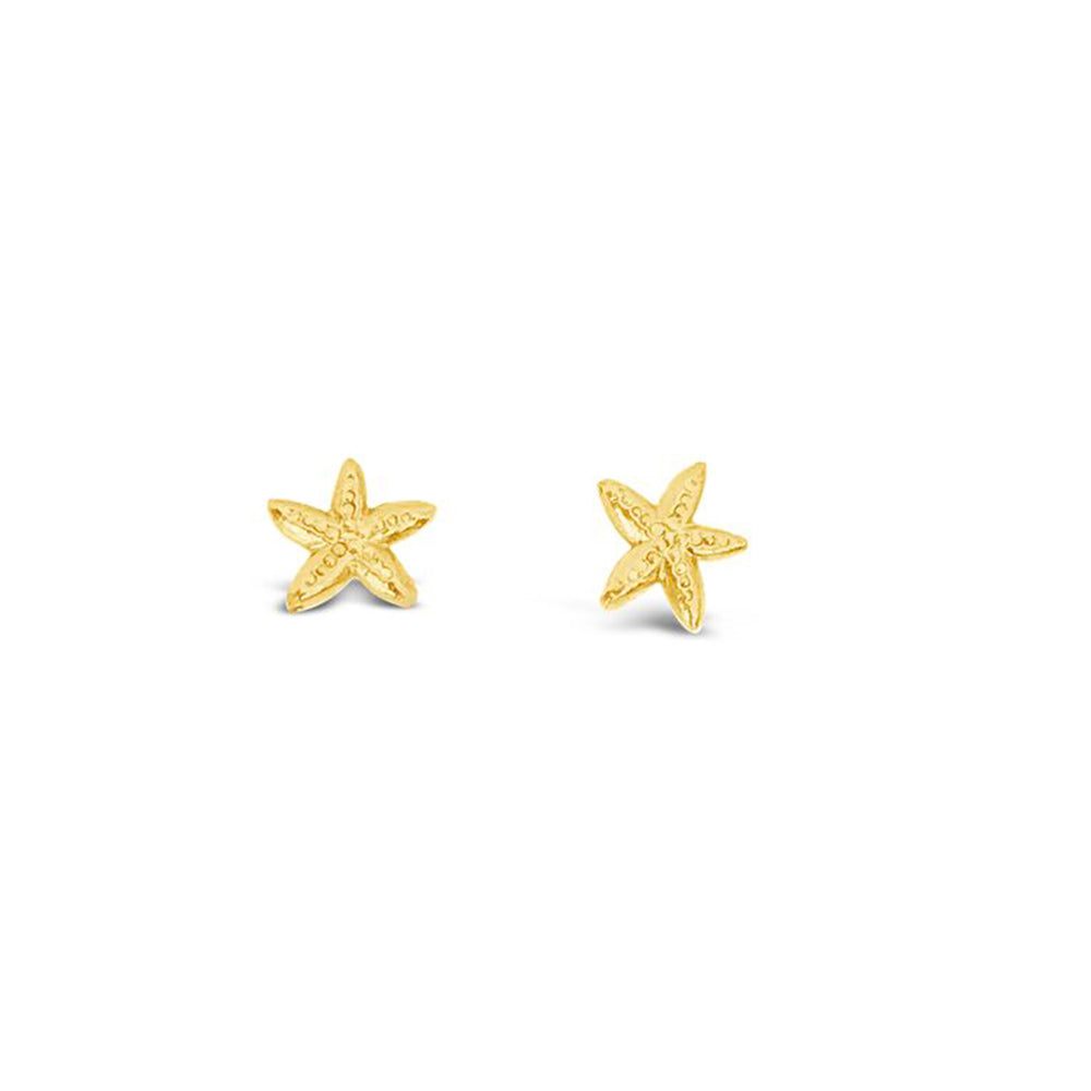 14 KT GOLD PLATED SMALL STARFISH STUD EARRINGS