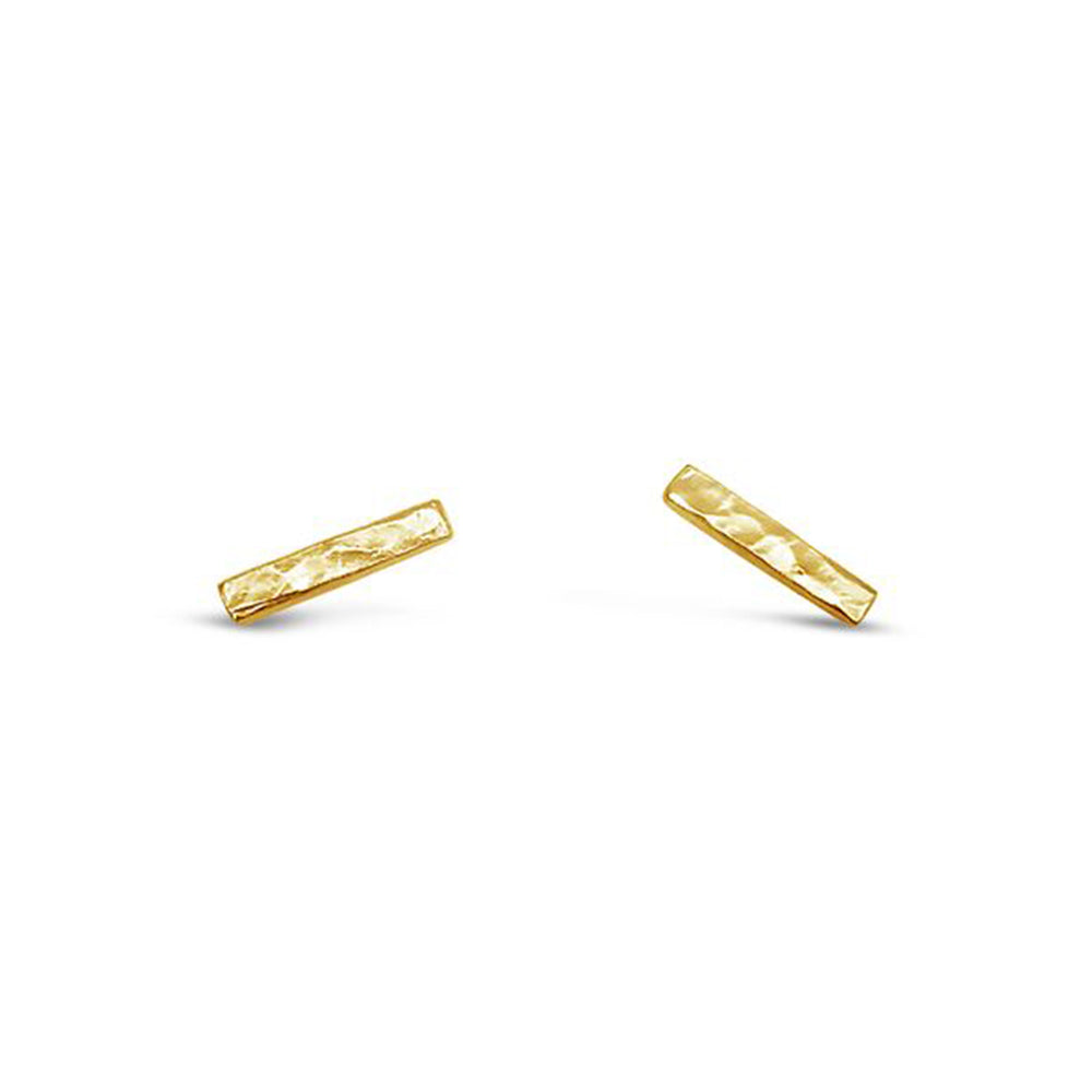 GR96-STERLING SILVER 14KT GOLD PLATED STICK STUDS