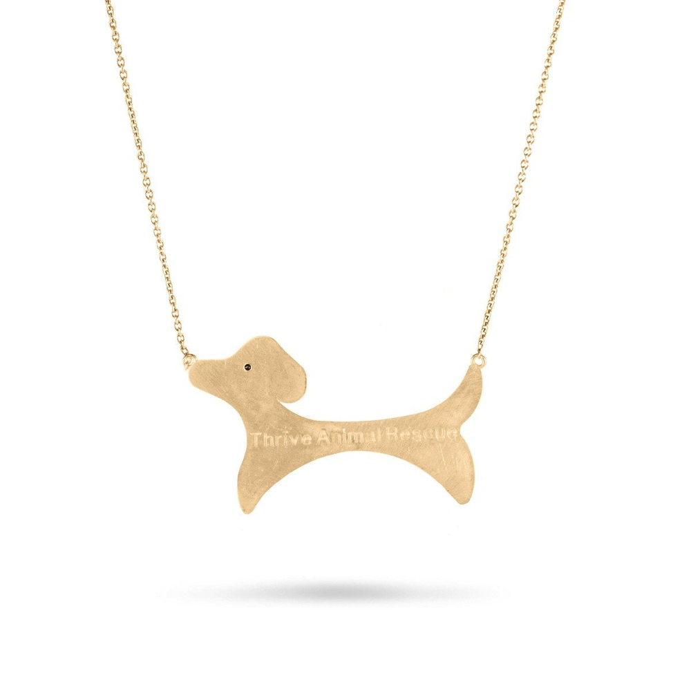 TAR02-6-THRIVE LARGE GOLD DOG NECKLACE