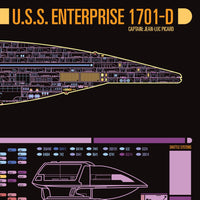 Galaxy Class - USS Enterprise-D - Starship Schematic - 36x11.75