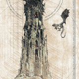 Lord of the Rings - Tower of Sauron Print - 36x11.75