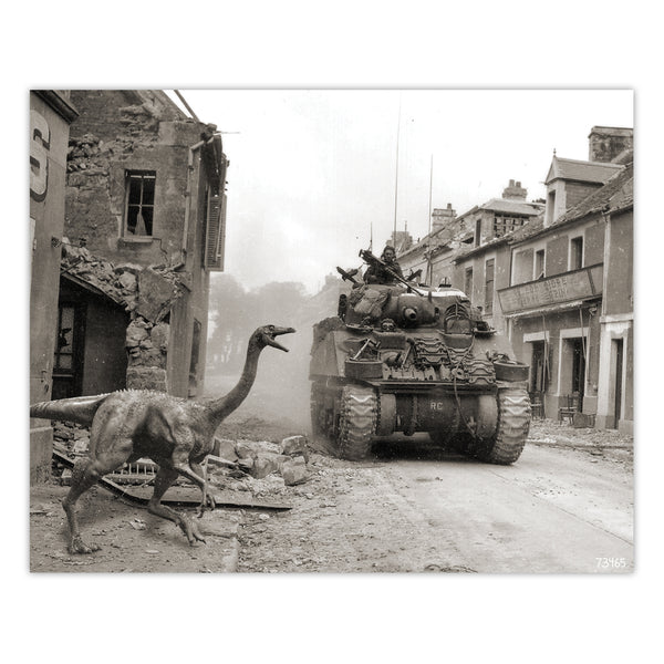Alternate WW2 History - Gallimimus Print - 8x10