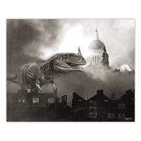 Alternate WW2 History - Megasaurus Print - 8x10