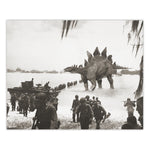 Alternate WW2 History - Stegosaurus Print - 8x10