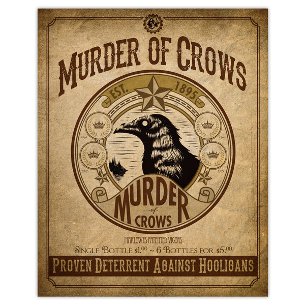 Bioshock - Murder of Crows Vigor Print - 8x10