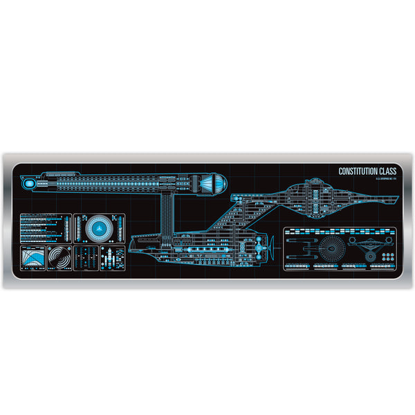 Constitution Class - USS Enterprise - Starship Schematic - 36x11.75