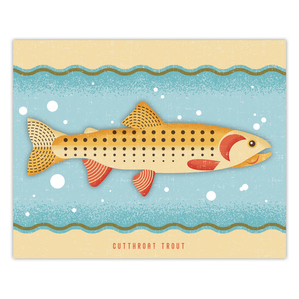 Cutthroat Trout - Graphic Print - 8x10
