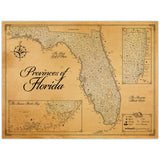 Provinces of Florida State - Fantasy Map - 18x24