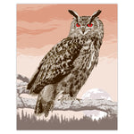 Great Horned Owl - Illustration Print - 16x20