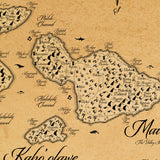 The Mighty Hawaiian Kingdoms - Fantasy Map - 18x24