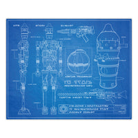 Star Wars - IG Series Assassin Droid Blueprint Schematic Print - 8x10