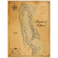 Kingdoms of California - Fantasy Map - 18x24