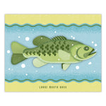 Large Mouth Bass - Graphic Print - 8x10