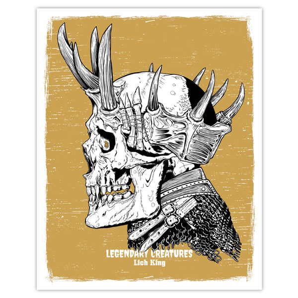 Legendary Creatures - Lich King Print - 8x10