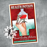 Mages Guild - Health Potion - Vintage Advertising Print - 11x17