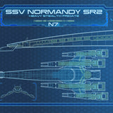 SSV Normandy SR2 - Mass Effect - 36 x 11.75 (Panoramic Print)