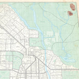 Raccoon City Vintage Plat Map 16x20 Poster