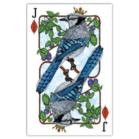 Royal Blue Jay - Playing Card Print - 11x17